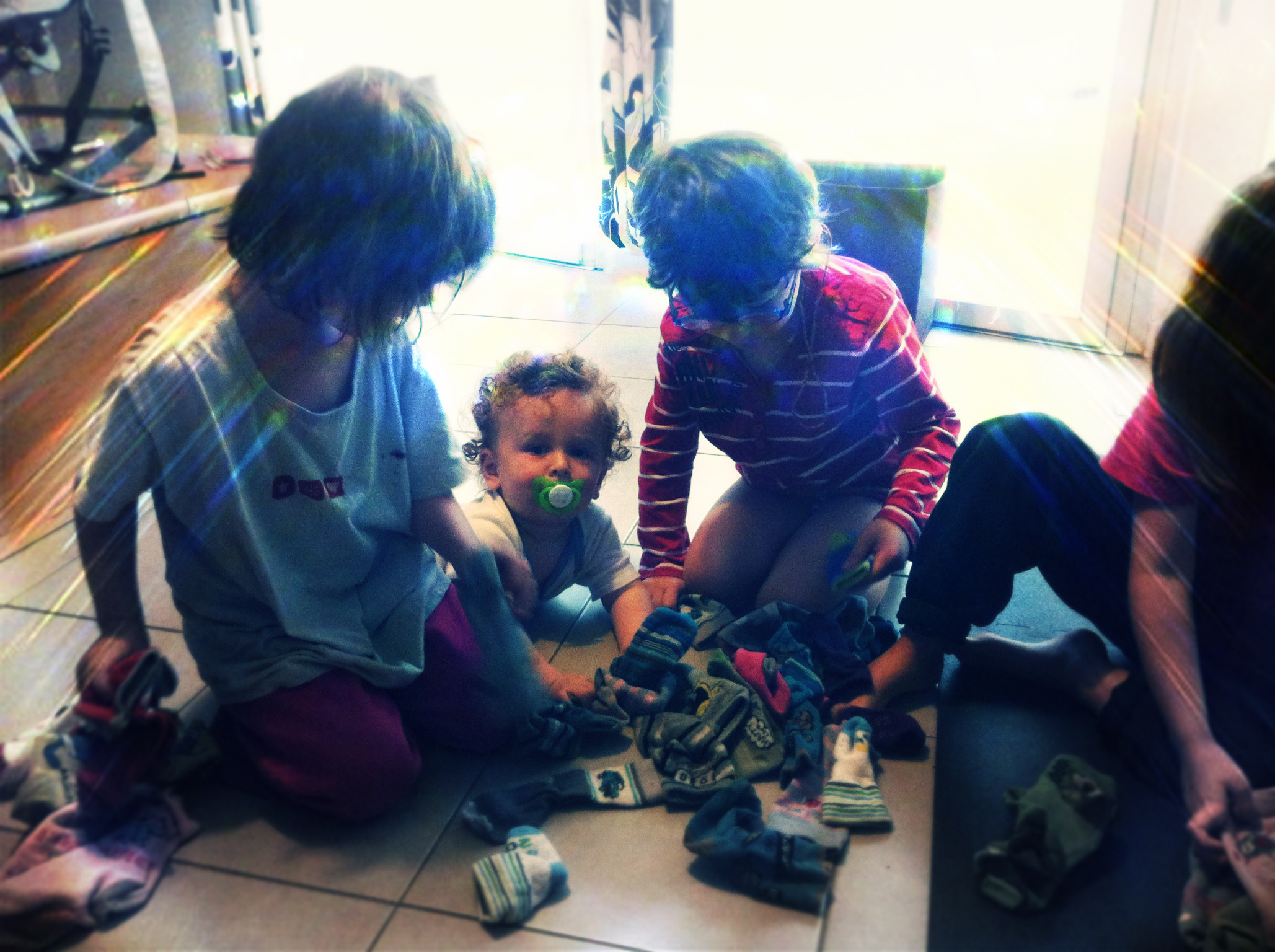 rangement linge en famille